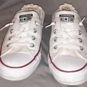 White Converse Shorlines
